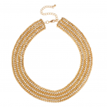 Pave Collar Statement Chain Necklace