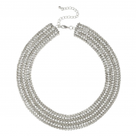 Pave Collar Bridal Statement Chain Necklace