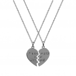 Partners in Crime Heart BFF Best Friends Necklaces (2 PC)