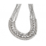 Chain Link Multi Row Necklace