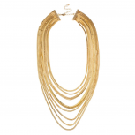 Multi Row Chain Statement Necklace