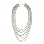 Multi Row Chain Statement Necklace.
