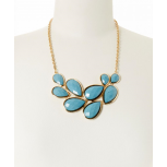 Turquoise Faceted Teardrop Necklace
