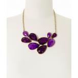 Purple Faceted Teardrop Necklace