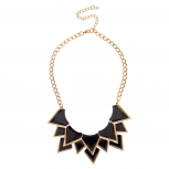 Black Spike Arrow Statement Necklace