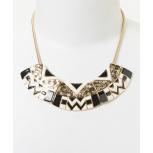 Black Fan Bib Necklace
