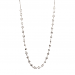 Pave Crystal Disc Bridal Statement Necklace