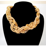 Braided Multi-Chain Necklace