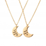 To The Moon & Back BFF Star Heart Best Friends Forever Necklace Set (2 PC)