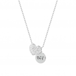 Best Friends BFF Rhinestone Heart Necklace