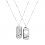 Best Friends BFF Heart / Cutout Heart Necklaces (2 PC)