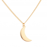 Quarter Moon Galaxy Pendant Necklace