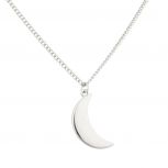 Quarter Moon Galaxy Pendant Necklace.
