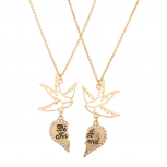 Dove Best Friends Forever BFF Pave Bird Necklaces (2 PC).