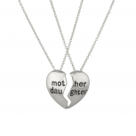 Mother Daughter Mom BFF Best Friends Parent Mommy Girl Necklace (2 PC)