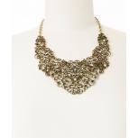 Gold Arabesque Bib Necklace