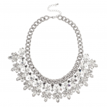 Crystal Stone Statement Collar Necklace