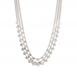 Pave Crystal Multi Row Bridal Statement Necklace