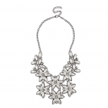 Crystal Floral Flower Elegant Bride Bridal Statement Necklace.