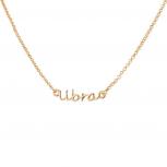 Libra Balance Scale Horoscope Zodiac Word Pendant Necklace