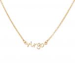 Virgo Virgin Horoscope Zodiac Word Pendant Necklace