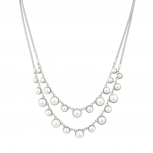 Faux Pearl Multi Rox Statement Bridal Necklace.