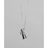 Kids Girls Silver Megaphone Pendant Necklace