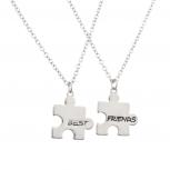 Puzzle Best Friends BFF Forever Necklace Set (2 PC)
