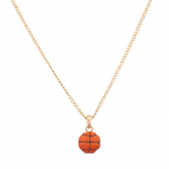 Basketball Sport Orange Ball Pendant Necklace