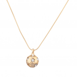 Soccer Ball Football Pave Round Pendant Necklace