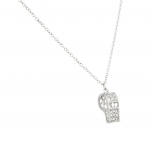 Whistle Referee Ref Pave Pendant Necklace.