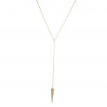 Pave Arrow Arrowhead Sexy Y Necklace Spear