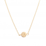 """Delicate Simple Round  """"A"""" Initial Name Pendant Necklace"""