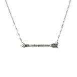 Be Brave Inspiration Arrow Pendant Necklace.