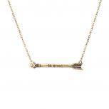 Be Brave Inspiration Arrow Pendant Necklace