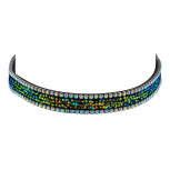 Jet AB Rhinestone Studded Gothic Rainbow Trendy Choker Necklace