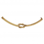 GoldTone Snake Chain Knotted Double Row Fashion Choker Necklace