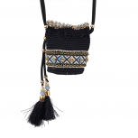 Black Multi  Navajo Pouch Necklace