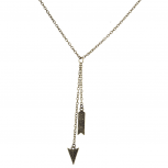 Boho Burnished Gold Arrow and Spike Lariat Sexy-Y Necklace