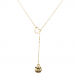 Gold Tone Baseball Sports Heart Sexy- Y Shape Lariat Necklace