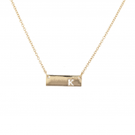 Gold Tone Cut Out K Initial Personalized Bar Necklace