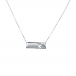 Silver Tone Cut Out K Initial Personalized Bar Necklace