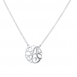 Silver Tone Script A Initial Personalized Necklace