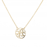 Gold Tone Script A Initial Personalized Necklace