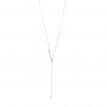 Silver Tone Arrow Adjustable Lariat Necklace