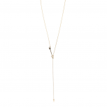 Gold Tone Arrow Adjustable Lariat Necklace