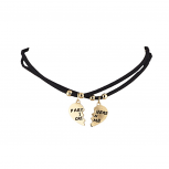 Goldtone Faux Suede Cord Partners in Crime Choker Necklaces 2PCS