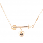 Rose Goldtone BFF Best Friend Forever Arrow Pendant Necklace