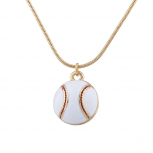 Gold Tone Baseball Sports Novelty Pendant Necklace for Women