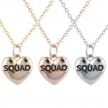 Tri Color Squad BFF Best Friends Heart Pendant Necklace Set 3PC